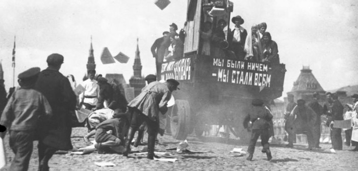 Moskau, Roter Platz, Propaganda-Auto