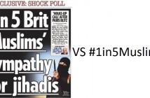 Einer von fünf Muslimen, Twitter, Soziale Netzwerke, The Sun, #1in5Muslims
